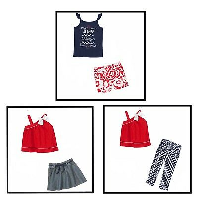 NWT GYMBOREE PARISIAN AFTERNOON NAVY WHITE RED BOW SKIRT BACK TO SCHOOL 4TH JULY