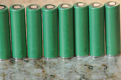 8 PCS SONY Li-ion 18650 Lithium Rechargeable batteries 2600mAh NEW capacity 3.7V