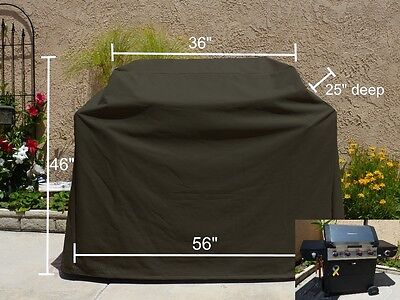 "Heavy Gauge BBQ Grill Black Cover up to 56"" Long"
