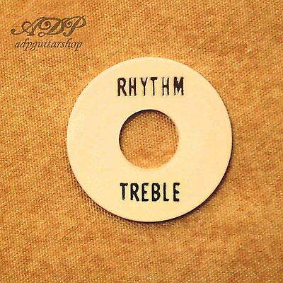 PLAQUE Les Paul RHYTHM/TREBLE Ring Toggle Switch Plate LP SG Gibson CREAM