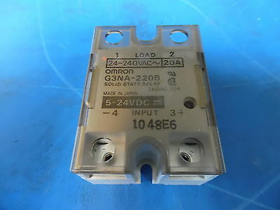 Lot of 2 Omron - G3NA-220B 24-240VAC-20A Solid State Relay