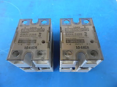 Lot of 4 Omron G3NA-220B 24-240VAC-20A Solid State Relay