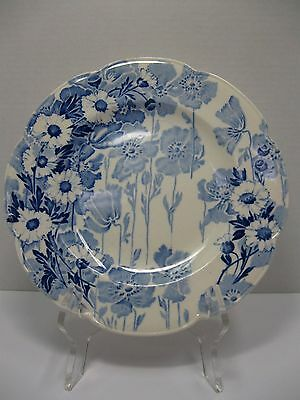 """Vintage Enoch Wood & Sons Gay Day Luncheon Plates 9"""" Blue & White - England"""