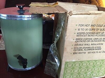 Vintage West Bend Westmark Avocado 30 Cup Coffee Maker Perfect with Original Box