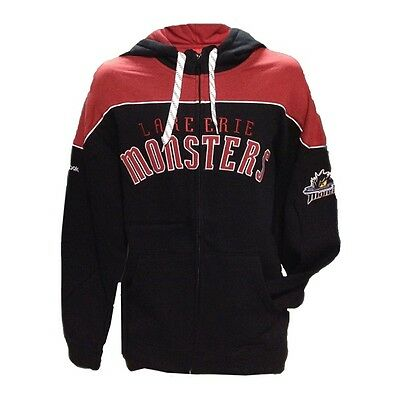 NHL Lake Erie MONSTERS 2XL Full Zip Hoodie Reebok Face Off Collection