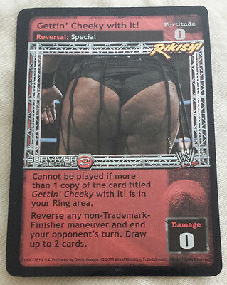 WWE Raw Deal GETTIN' CHEEKY WITH IT! Rikishi Ultra Rare SS2