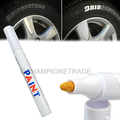 Pair Car SUV Motor Bike Durable White Tyre Tire Wheel Tread Paint Marker Pen CT