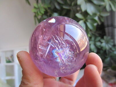 239 grams of natural purple rainbow crystal transparent quartz crystal healing