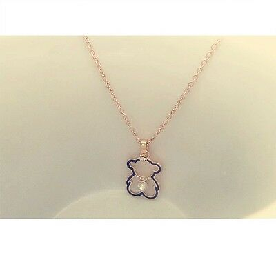 Free Shipping Womens 9K Rose Gold Filled Bear Shape Necklace with Pendant Y-P01