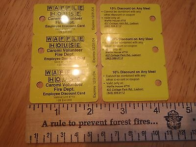 Waffle House® key chain discount card 2004