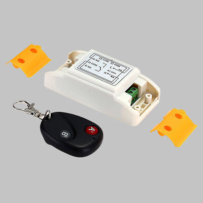 AC180-240V Remote Controller Wireless Learning Code Switch Receiver+ Transmitter