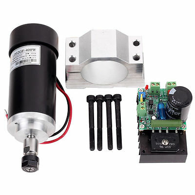 400W CNC Spindle Motor Kits PWM Speed Controller 400W Motor with Mount Bracket