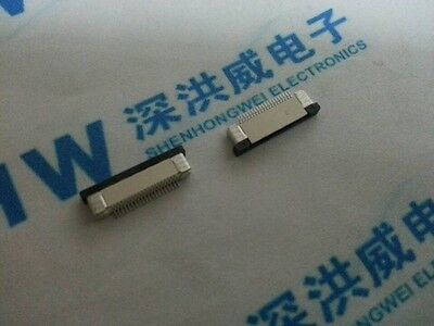 10Pcs FPC FFC 0.5mm Pitch 20Pin Drawer Type Ribbon Flat Connector Bottom Contact