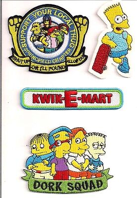 The Simpsons TV Series Dork Squad Group Embroidered Patch NEW UNUSED