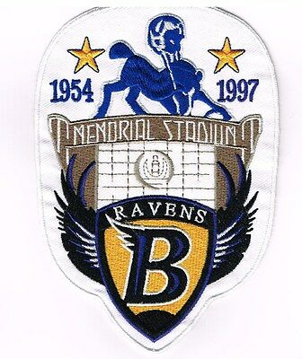 1954 1997 BALTIMORE COLTS RAVENS MEMORIAL STADIUM PATCH 4X6 UNITAS RAY LEWIS
