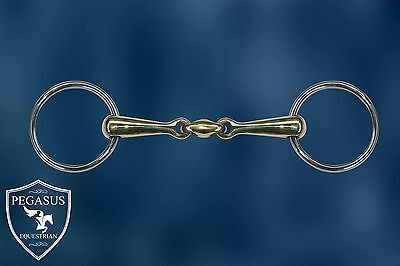 """Pegasus Equestrian Oval Link Copper Loose Ring Snaffle bit 5"""" (inch french)"""