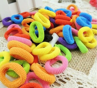 XI CA 100X Girls Toddler Kids Elastic Hair Bands Bobbles Bows Boutique