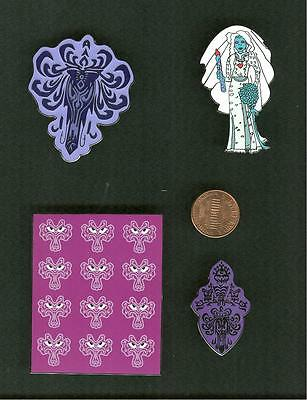 Disney Haunted Mansion - Wallpaper - Bride In The Attic   Fantasy Pins Set/4 New