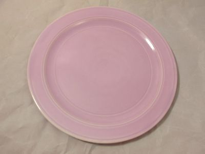 "MODERN CALIFORNIA AUTHENTIC VERNONWARE 9 1/2"" PINK DINNER PLATE VERNON KILNS USA"