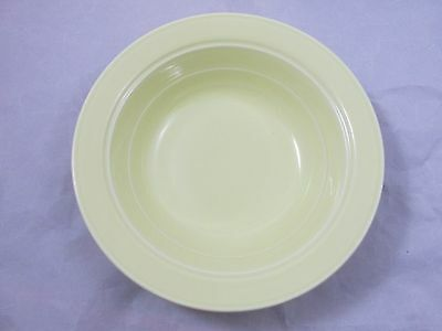 "AUTHENTIC VERNONWARE VERNON KILNS PASTEL YELLOW 8 3/4"" SERVING VEGETABLE BOWL"