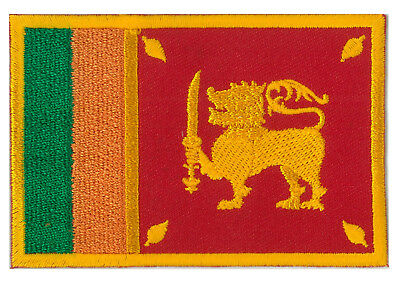 patch insigne Patche brodé thermocollant écusson ecusson Sri Lanka 8,5 x 5,5 cm