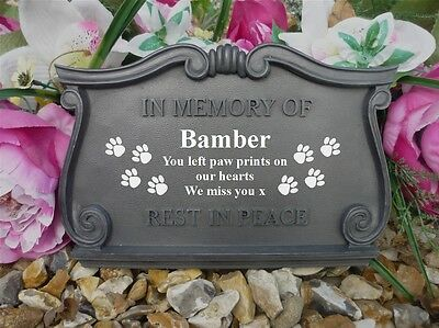 Personalised Dog Memorial - Completely Weatherpoof - Paw Prints