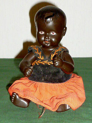 Alte Cellba Puppe Baby Cellbapuppe farbige Babypuppe Puppenbaby Puppen Dolls 24
