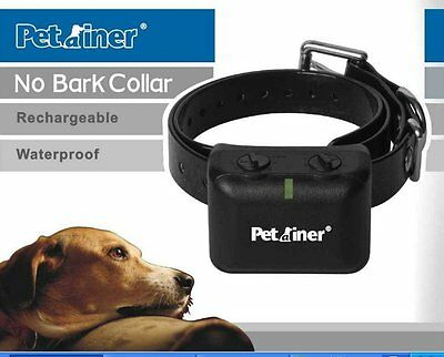 Real Waterproof Rechargeable Small MEDIUM Anti Bark No Barking Dog Shock Collar