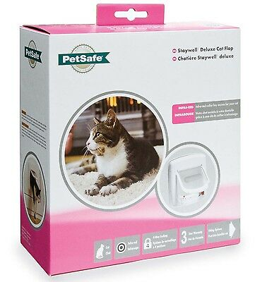 STAYWELL INFRARED PLASTIC CAT FLAP DOOR and Extra Collar Key options 500 580