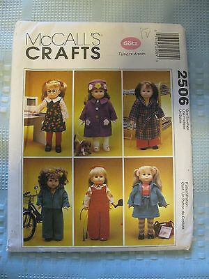 """VTG 1999 McCall's Sewing pattern UNCUT 3429 18"""" Dolls American Girl clothes"""