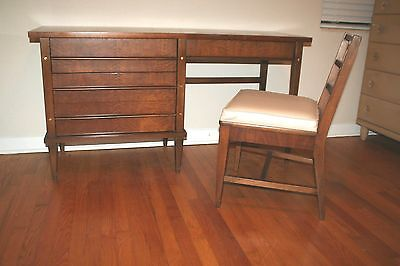 Rare Luther Draper Desk W/ Chair Mcm Designer For Drexel Henredon Many Others