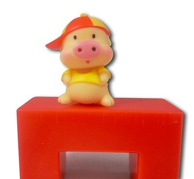 Standing Pig Piggy With Cap Phone Dust Earphone Jack Plug 3.5mm New