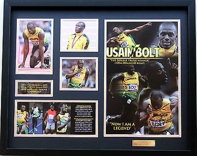 New Usain Bolt Signed Limited Edition Memorabilia Framed