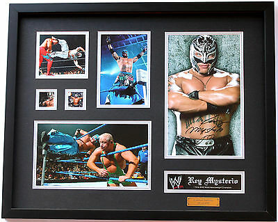 New Rey Mysterio Signed Limited Edition Memorabilia Framed