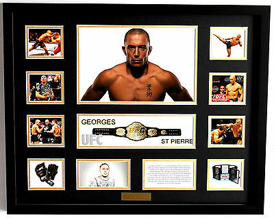 New Georges St Pierre Limited Edition Memorabilia Framed