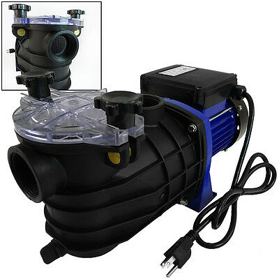 """850W 1HP Swimming Pool Pump w/Strainer Filter 1.5"""" In/Out Ponds Fountain Pump CE"""