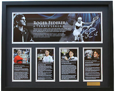 New Roger Federer Signed Limited Edition Memorabilia Framed