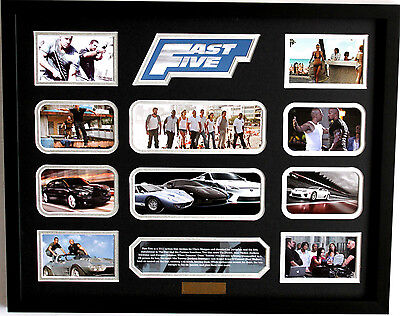 New Fast Five Limited Edition Memorabilia Framed