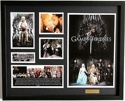 New Game of Thrones Limited Edition Memorabilia Framed