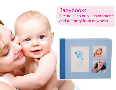 Babypie Babyprint Baby Book - A Book About Me - Blue