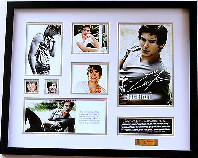New Zac Efron Signed Limited Edition Memorabilia Framed