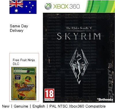 xbox 360 game : the Elder Scrolls V SKYRIM full game download card + free game