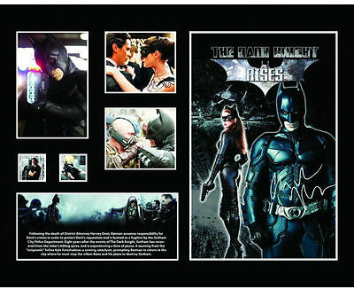 New Batman Dark Knight Rises Signed Limited Edition Memorabilia Framed
