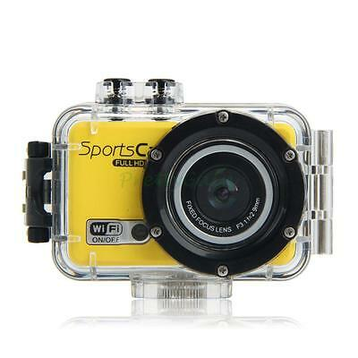 1080P HD 5.0MP WIFI Waterproof Sport Camcorder Video Camera Yellow as Gopro F39