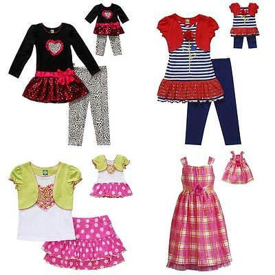 """Dollie & Me Sz 12 14 14.5 16.5 18.5 20.5 and 18"""" Doll Matching set American Girl"""