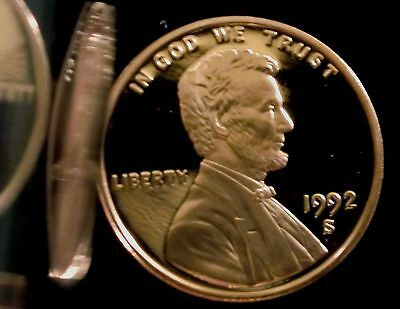 1992-S San Francisco Mint Lincoln Memorial Cent Proof