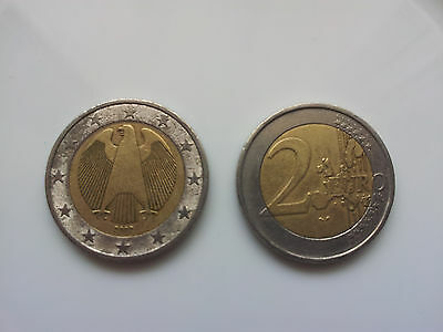 2 Euro coin from Germany - EAGLE picture - USED