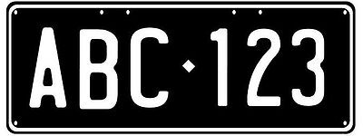 Trailer Duplicate Number Plate - Perfect For Trailer Or Bike Rack Etc
