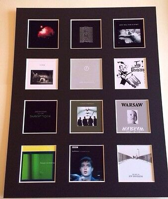 """JOY DIVISION DISCOGRAPHY PICTURE MOUNTED 14"""" By 11"""" READY TO FRAME"""