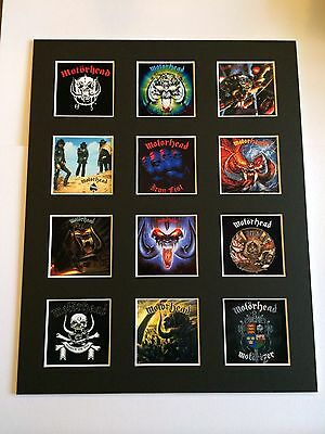 """MOTORHEAD DISCOGRAPHY PICTURE MOUNTED 14"""" By 11"""" READY TO FRAME"""